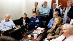 Summary executioners watching their murder of an unarrmed and unconvicted bin Laden.