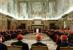 Pope meeting with the board of directors of The Vatican Bank