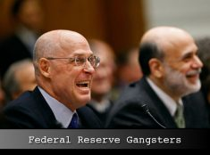 Gangsters Paulson And Bernanke laughing at the gullible American people.