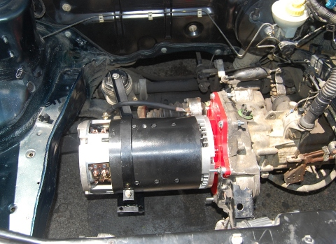 Drive Charge Electric Motor Recharges Batteries Or Capacitor Cells