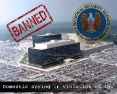 Banned NSA FBI Domestic Spying