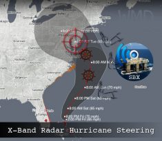 SBX Steering Hurricane Sandy