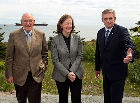 Arthur Irving (Irving Oil's chairman), Alberta Premier Alison Redford and US born New Brunswick David Alward oil pipeline conspiracy