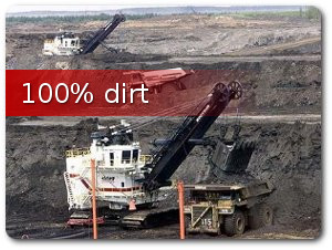 dirt by the dump truck load