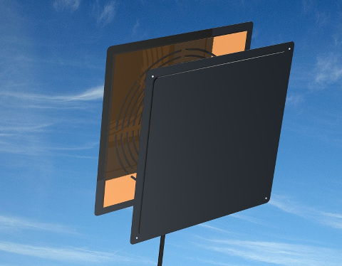 induction coil panel antenna
