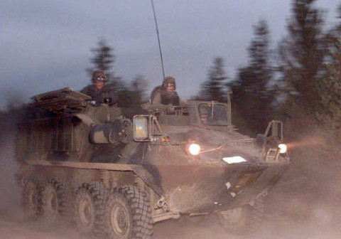 8 Bison armoured personnel carriers from the Canadian Forces