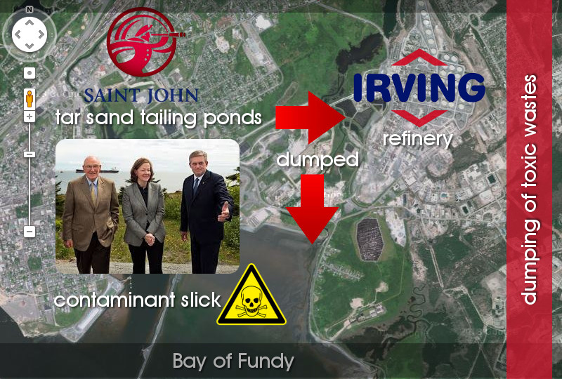 Irving Oil Bay of Fundy toxic oil refinery waste dumping