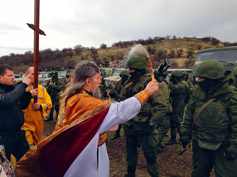 Catholic priest fuel tensions in Crimea