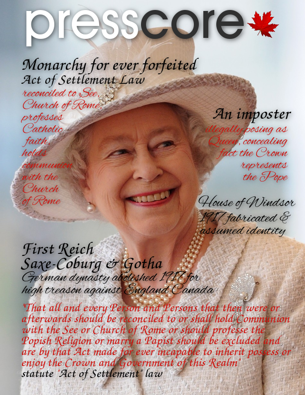 Queen Elizabeth II's monarchy is forever forfeited