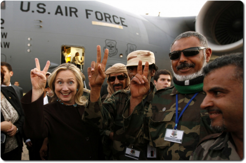 Former Secretary of State Hillary Clinton adhering to US Enemies, giving them Aid and Comfort