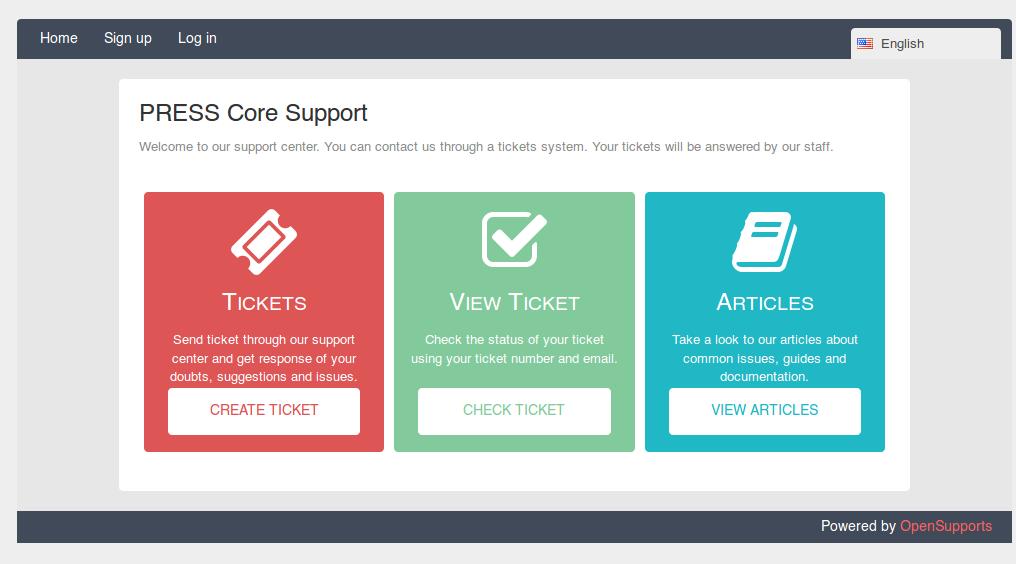 PRESS Core Support